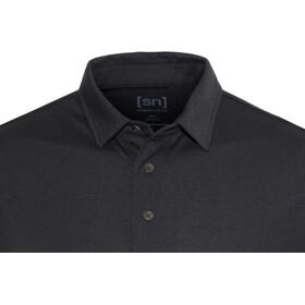 super.natural Essential Polo Shirt Men Jet Black